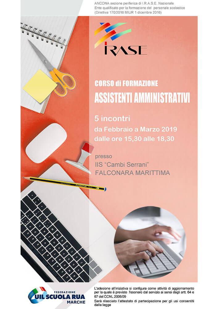 Locandina Corso di formazione assistenti amministrativi