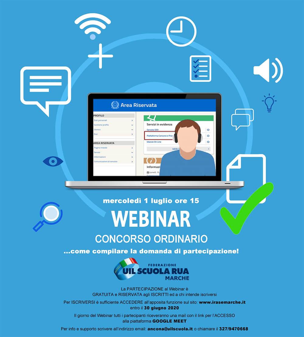 locandina webinar concorso ordinario UIL scuola Rua