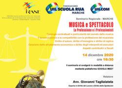 Seminario Regionale MUSICA E SPETTACOLO – La Professione e i Professionisti