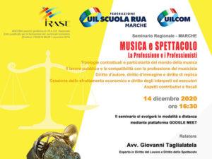 Seminario Regionale MUSICA E SPETTACOLO - La Professione e i Professionisti