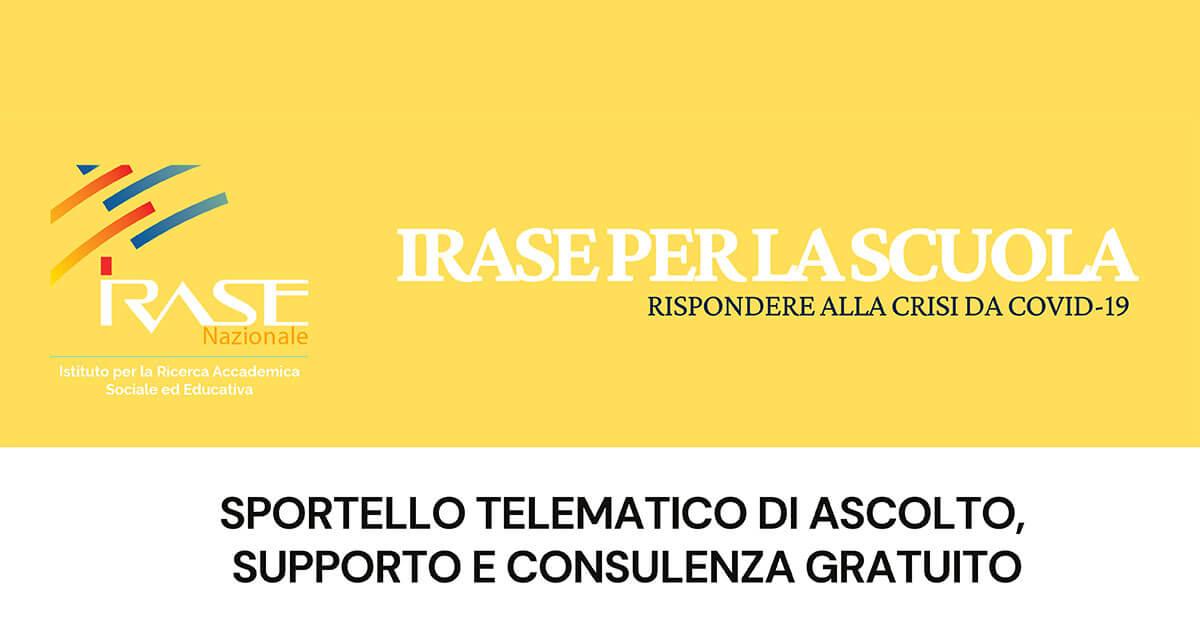 IRASE Per la Scuola Sportello telematico di ascolto, supporto e consulenza gratuito